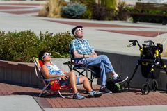 Watching the eclipse Royalty Free Stock Image