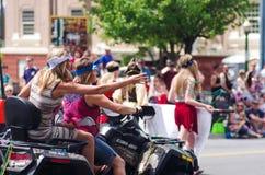 COEUR D ALENE, IDAHO 6-4-2014: quarto della parata di luglio nel d del centro Alene di Coeur Fotografia Stock