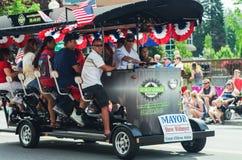 COEUR D ALENE, IDAHO 6-4-2014: quarto della parata di luglio nel d del centro Alene di Coeur Fotografie Stock