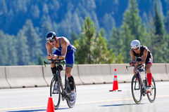 Coeur d' Alene Ironman cycling event Stock Images