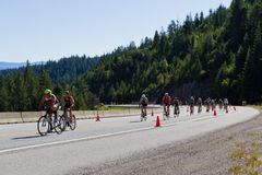 Coeur d' Alene Ironman cycling event Stock Photos