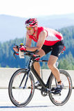 Coeur d' Alene Ironman cycling event Stock Photo