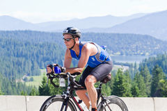 Coeur d' Alene Ironman cycling event Stock Image