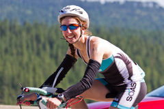 Coeur d' Alene Ironman cycling event Royalty Free Stock Photos