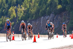 Coeur d' Alene Ironman cycling event Royalty Free Stock Photo