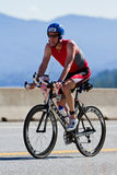 Coeur d' Alene Ironman cycling event Royalty Free Stock Photography