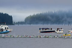 Coeur d' Alene Ironman swimming event Stock Image