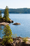Coeur d alene lake. View of coeur d alene lake from tubs hill fresh summer morning Stock Photo