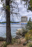 Coeur d'Alene Lake and resort area. Royalty Free Stock Photos