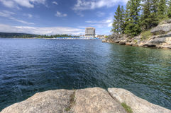 Coeur d'Alene Lake from Tubbs Hill. Royalty Free Stock Photography