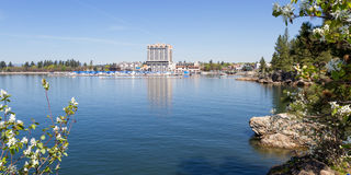The Coeur d' Alene Resort and Marina Royalty Free Stock Photography