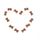 Coeur d'aliments pour animaux familiers Image stock