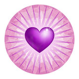 Coeur d'améthyste Image libre de droits