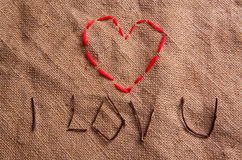 Coeur d'amorçage Photo stock