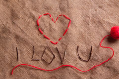 Coeur d'amorçage Photos libres de droits
