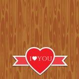 Coeur d'amour avec le ruban Images libres de droits