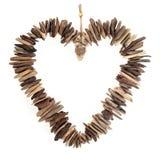 Coeur d'amour de bois de flottage Photo libre de droits