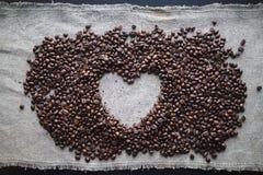 Coeur d'amour de café Photographie stock libre de droits
