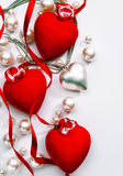 Coeur d'amour de carte de jour de Valentines de conception d'art Photos libres de droits