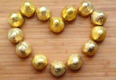 Coeur d'amour de chocolat Image stock