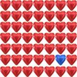 Coeur d'amour de chocolat Photos stock
