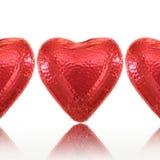 Coeur d'amour de chocolat Photographie stock libre de droits