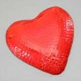 Coeur d'amour de chocolat Photographie stock