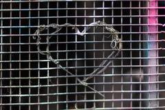 Coeur d'amour de fil Photos libres de droits