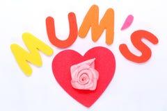 Coeur d'amour de jour de mères Photos libres de droits