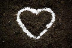 Coeur d'amour de la terre Photographie stock