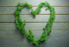 Coeur d'amour de Noël Images libres de droits