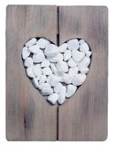 Coeur d'amour de pierre décorative Image stock