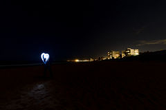Coeur d'amour de plage de Collaroy Photographie stock