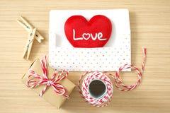 Coeur d'amour de Saint Valentin Photographie stock libre de droits