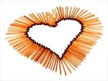 Coeur d'amour des allumettes photo stock
