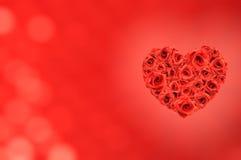 Coeur d'amour des roses Photographie stock