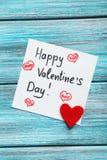 Coeur d'amour et feuille de papier Image libre de droits