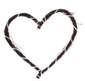 Coeur d'amour fait de brindilles Photographie stock