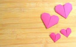 Coeur d'amour d'origami Photos libres de droits
