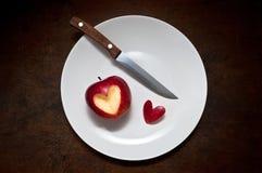 Coeur d'Apple images libres de droits