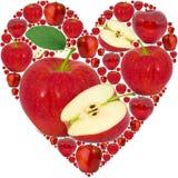 Coeur d'Apple Photographie stock libre de droits