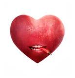 Coeur d'Apple avec le poivre de /poivron Image libre de droits