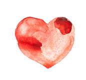 Coeur d'aquarelle Photos stock