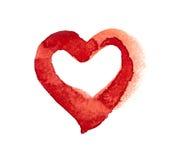 Coeur d'aquarelle Photos libres de droits