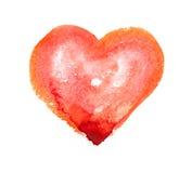 Coeur d'aquarelle Images libres de droits