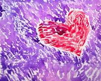 Coeur 2 d'aquarelle Photos stock