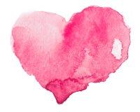 Coeur d'aquarelle. Concept - amour, relations, Photographie stock libre de droits