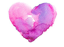 Coeur d'aquarelle. Concept - amour, relations, illustration stock