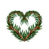 Coeur d'arbre de brindilles sur le fond blanc d'isolement Jour du `s de Valentine Photos libres de droits