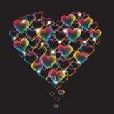 Coeur d'arc-en-ciel Photo libre de droits